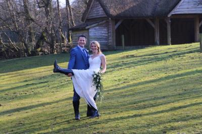 Hayley Watson-Greaves gets married wearing her Petrie Riding Boots