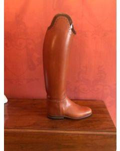 Petrie Elegance - Cognac, special brown patent top size 6, 48 height, 36 calf