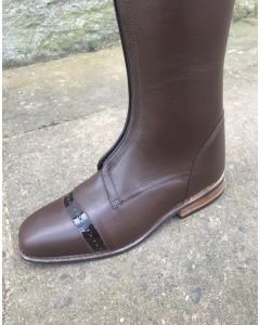 Konig Lugano Brown Polo Boot in size 5.5 53/46 height, 37 calf