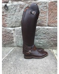 Petrie Rome with bottom strap in Brown with Brown Honeycombe size 7.5, 50 height, and 37.5 calf