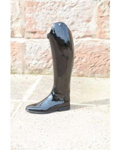 Petrie Significant in Black Patent size 7, 49 height, 37.5 calf